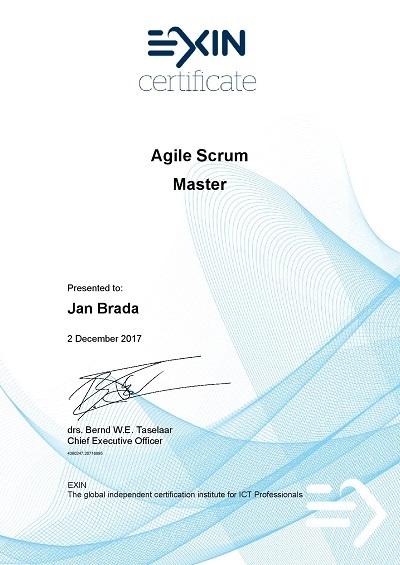 EXIN certificate Agile Scrum Master