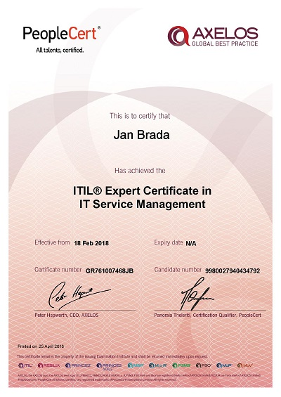 ITIL_Expert Certificate in IT Service Management