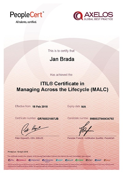 ITiL_Certificate in Managing Across the Lifecycle (MALC)