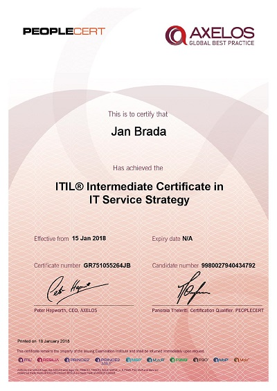 ITIL Intermediate Certificate in IT Service Strategy