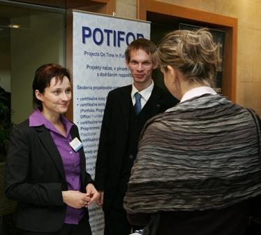 stánek POTIFOB na eFocus konferenci Projektový management 2009