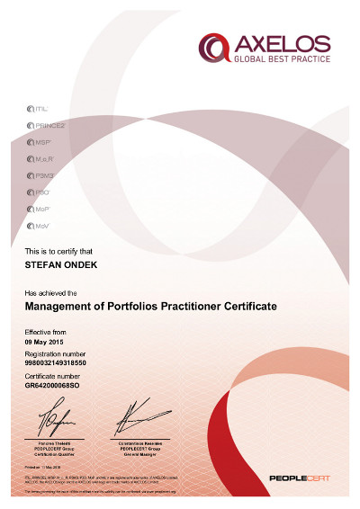 Management of Portfolios Practitioner Certificate