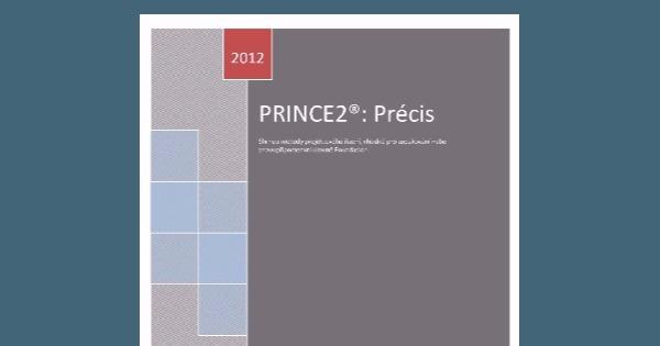 SLEVA publikace PRINCE2 Précis